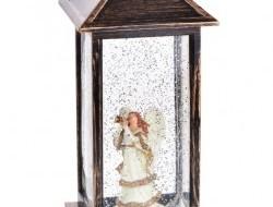 LED svietiaci lampáš s anjelom 30 cm