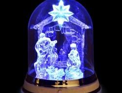 LED svietiaci betlehem 21 cm