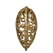 Trblietavé srdiečka krajkového vzhľadu 7 cm, 3 ks zlaté