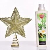Špica na vianočný stromček v tvare hviezdy ZLATÁ