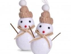 Snehuliak s čiapočkou 12 cm, 2 ks