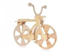 3D Skladacia drevená stavebnica BICYKEL 21 cm