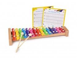 VEĽKÝ drevený xylofón s 15 tónmi