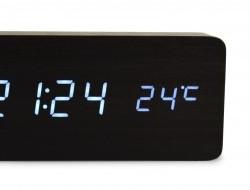 WOODOO digitálne hodiny čierne