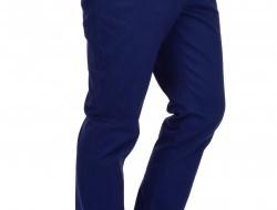GABARDIN pánske nohavice modré