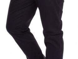 GABARDIN pánske nohavice čierne