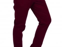 GABARDIN pánske nohavice bordové