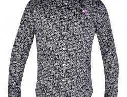 KENT DENSEFORSÉ košeľa čierna s ornamentami