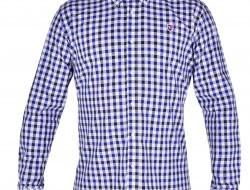 KENT košeľa s čierno - modrými kockami