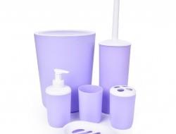 SADA do kúpeľne fialovo - biela