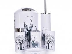 Kúpeľňový set 6 dielny prírodný motív so zvieratami