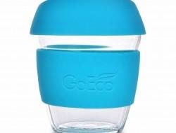 Sklenený hrnček KELIMERO® GoEco® 300 ml tyrkysový