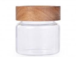 GOECO sklenená dóza s akáciovým vrchnákom