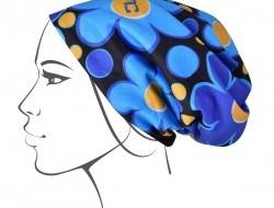 FC hrejivá čiapka s podšívkou DAISY FLOWERS modrá