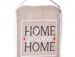 Dverová textilná zarážka HOME sweet HOME
