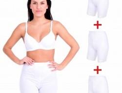 BRIDGET LONG nohavičky s nohavičkami 3 + 1 ZADARMO biela veľ. M