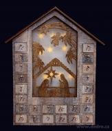 DREVENÝ adventný kalendár
