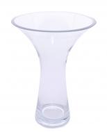 SKLENENÁ váza so širokým otvorom biela