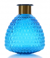 SKLENENÁ váza s reliéfnym povrchom