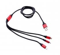 USB kábel s tromi koncovkami