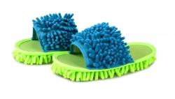 SAMOCHODKY upratovacie papuče zeleno - tyrkysové
