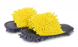 SAMOCHODKY upratovacie papuče žlto - šedé