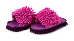 SAMOCHODKY upratovacie papuče ružovo - fialové