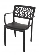 LORIEN stolička čierna