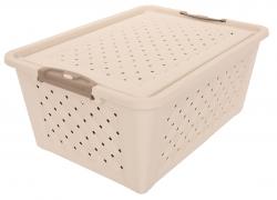 BOX s vekom krémový