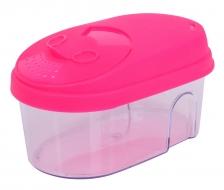 BOX na potraviny s vekom 500 ml ružový