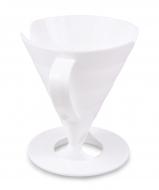 DRŽIAK na filtrovanie kávy alebo čaju biely