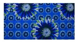 MULTIFUNKČNÁ šatka s motívom modrých kvetov