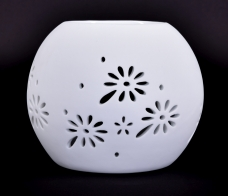 AROMALAMPA s matnou glazúrou biela