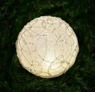 XXL LED guľa s ornamentami