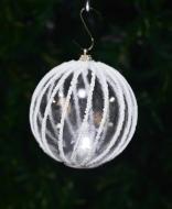 LED svietiaca guľa s bielym lemovaním