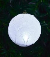 LED svietiaca guľa s trblietavými ornamentami