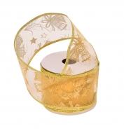 DEKORAČNÁ stuha zlatá so zvončekmi