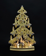 DREVENÝ stromček s LED osvetlením