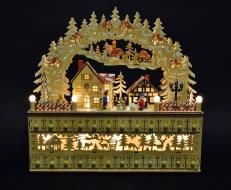 ADVENTNÝ kalendár s LED osvetlením