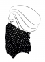 MULTIFUNČNÁ šatka čierna s bielymi bodkami