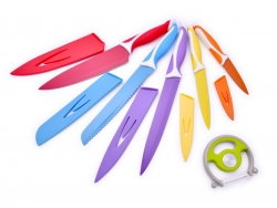 FAREBNÉ nože z nehrdzavejúcej ocele sada