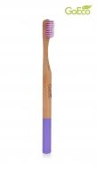 GOECO bamboo zubná kefka fialová