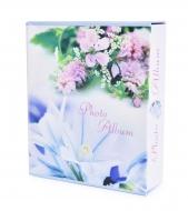 ROMANTIC fotoalbum modrý s kvetmi