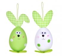 VEĽKONOČNÉ vajíčko sada zeleno - biela