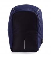 TRAVEL & STUDENT batoh s USB pripojením a výstupom na slúchadlá modrý