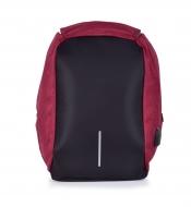 TRAVEL & STUDENT batoh s USB pripojením a výstupom na slúchadlá bordový
