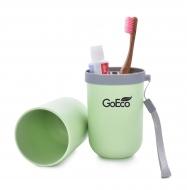 GOECO cestovné púzdro na zubnú kefku a pastu zelené