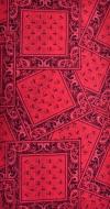 MULTIFUNKČNÁ šatka červená s ornamentami