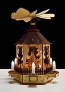 KOLOTOČ s dekoratívnymi sviečkami