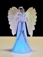 LED SVIETIACI anjel s farebným osvetlením